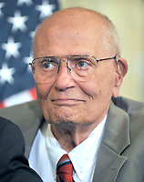 Washington, DC - July 14, 2009 -- U.S. Representative John D. Dingell (Democrat of Michigan), Chairman Emeritus, U.S. House Committee on Energy and Commerce, joins fellow Democratic members of the U.S. House of Representatives to unveil the America's Affordable Health Choice Act of 2009 during a press conference in the Rayburn Room of the U.S. Capitol on Tuesday, July 14, 2009. Credit: Ron Sachs/CNP/AdMedia