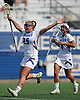 Darcie Smith #25 of Hofstra University reacts after her team's 17-15 win over Towson in a CAA women's lacrosse game at Shuart Stadium in Hempstead, NY on Sunday, April 16, 2017.