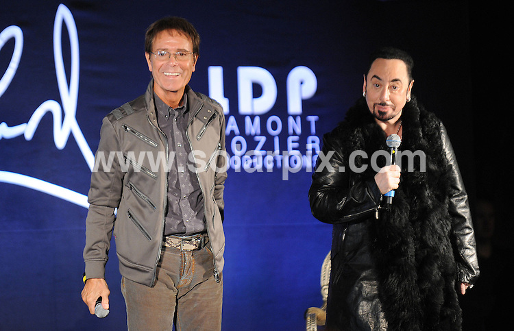 **ALL ROUND PICTURES FROM SOLARPIX.COM**                                             **WORLDWIDE SYNDICATION RIGHTS**                                                                                  Caption: Press Conference at Gilgamesh Restaurant in Camden Town  in London UK                                                                          .This pic: Sir Cliff Richard and David Gest                                                                              JOB REF:12930        SSD      DATE:07.03.2011                                                            **MUST CREDIT SOLARPIX.COM OR DOUBLE FEE WILL BE CHARGED**                                                                      **MUST AGREE FEE BEFORE ONLINE USAGE**                               **CALL US ON: +34 952 811 768 or LOW RATE FROM UK 0844 617 7637**