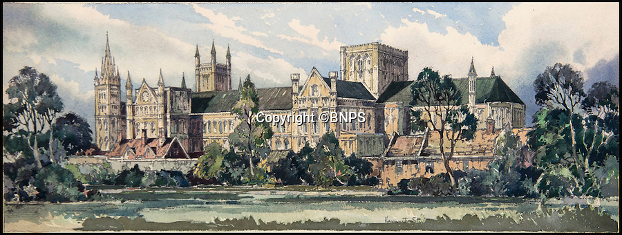 BNPS.co.uk (01202 558833)<br /> Pic: TomWren/BNPS<br /> <br /> A collection of vintage posters used to promote Britain's railways during the golden age of steam have gone on sale for a whopping &pound;20,000 after being saved from the skip.<br /> <br /> Quick-thinking railway worker Albert Cook heard the 130 carriage panel prints from the 1930s including 12 original artworks were to be thrown away at London's Liverpool Street Station, so he asked permission to take them home.<br /> <br /> The art deco-style posters advertised popular destinations such as Northumberland's Whitley Bay, Woodhall Spa in Lincs and Dovercourt Bay in Essex as railway tourism opened up Britain to the masses.<br /> <br /> The archive will be sold by Onslows auctioneers in Blandford, Dorset, on July 14.
