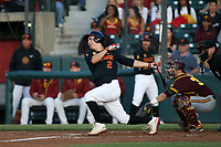 Christian Moya (2) of the Southern California Trojans bats against the Arizona State Sun Devils at Dedeaux Field on March 24, 2017 in Los Angeles, California. Southern California defeated Arizona State, 5-4. (Larry Goren/Four Seam Images)