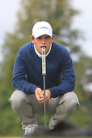 Agustin Errazuriz of Team Chile on the 5th green during Round 3 of the WATC 2018 - Eisenhower Trophy at Carton House, Maynooth, Co. Kildare on Friday 7th September 2018.<br /> Picture:  Thos Caffrey / www.golffile.ie<br /> <br /> All photo usage must carry mandatory copyright credit (&copy; Golffile | Thos Caffrey)