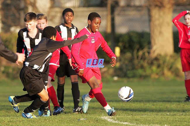 JUNIOR REDS v FISHER ATHLETIC<br /> KENT YOUTH LEAGUE U13 NORTH SUNDAY 27TH NOV 2011 MERIDIAN SPORTS CLUB