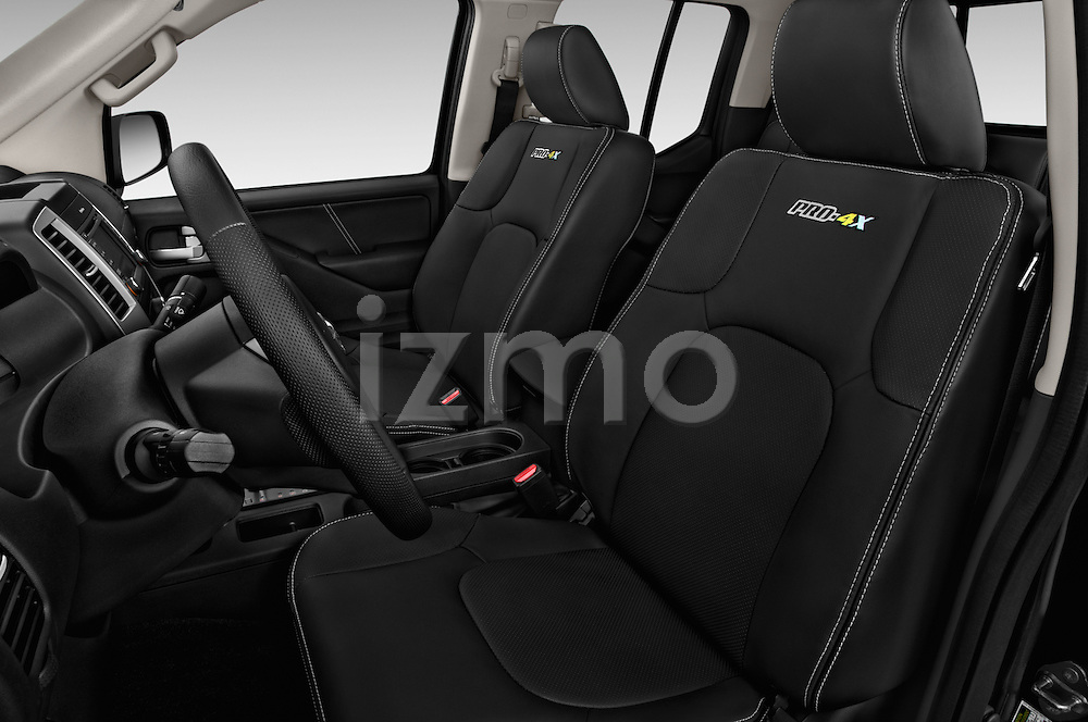 Front seat view of 2016 Nissan Frontier PRO-4X-Crew-Cab 4 Door Pickup Front Seat  car photos