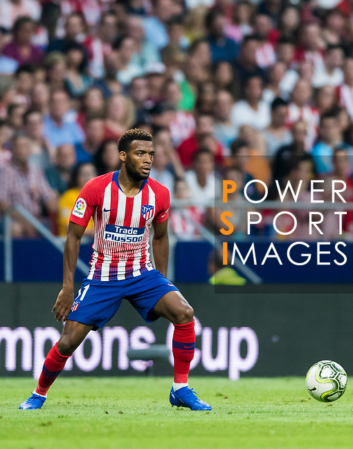 Thomas Lemar of Atletico de Madrid in action during their International Champions Cup Europe 2018 match between Atletico de Madrid and FC Internazionale at Wanda Metropolitano on 11 August 2018, in Madrid, Spain. Photo by Diego Souto / Power Sport Images