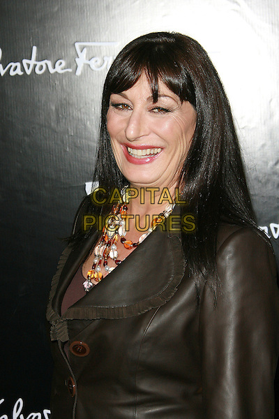 "ANJELICA HUSTON.Rodeo Drive ""Walk Of Style"" Awards - Arrivals held on Rodeo Drive, Beverly Hills, California, USA,.8 October 2006..portrait headshot    dark chocolate brown jacket necklace fringe .Ref: ADM/ZL.www.capitalpictures.com.sales@capitalpictures.com.©Zach Lipp/AdMedia/Capital Pictures."