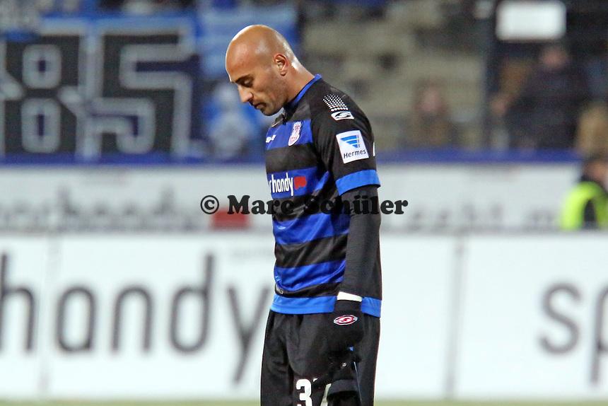 Frust bei Zafer Yelen (FSV) nach der Niederlage - FSV Frankfurt vs. Arminia Bielefeld, Frankfurter Volksbank Stadion