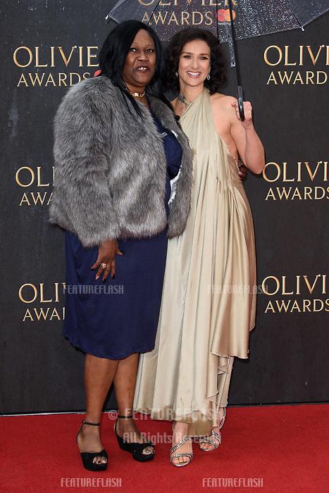 Indira Varma arriving for the Olivier Awards 2018 at the Royal Albert Hall, London, UK. <br /> 08 April  2018<br /> Picture: Steve Vas/Featureflash/SilverHub 0208 004 5359 sales@silverhubmedia.com