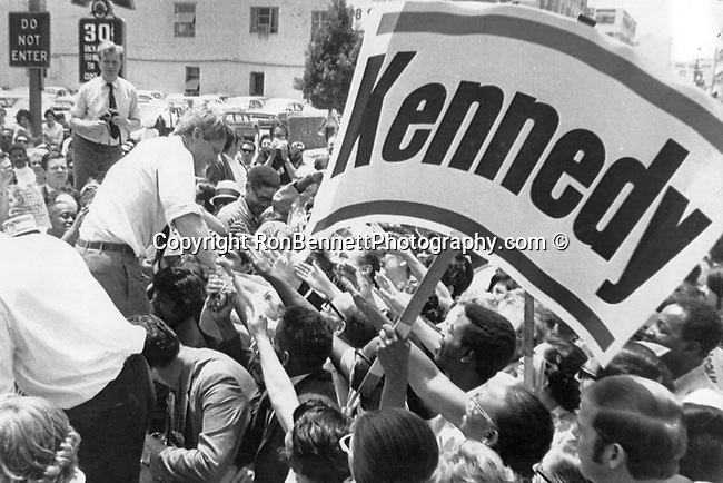 Robert F. Kennedy campaign for President of the United States Los Angeles California,