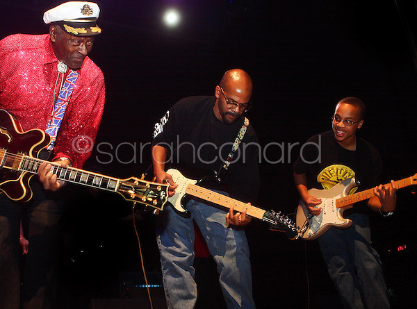 Saturday, December 13, 2008--St. Louis rock legend Chuck Berry performs with his son, Charles Edward Jr, and his grandson, Charles III during a sold-out show at The Pageant..Sarah Conard | freelance