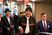 NOVA YORK, EUA, 24.09.2019 - ONU-EUA - Presidente da Bolivia Evo Morales durante da 74ª Assembleia Geral da Organização das Nações Unidas (ONU) em Nova York nos Estados Unidos nesta terça-feira, 24. (Foto: Vanessa Carvalho/Brazil Photo Press/Folhapress)