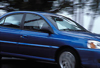 Blue Car, Moving, Close up, Blurred, in motion