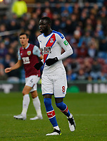 30th November 2019; Turf Moor, Burnley, Lanchashire, England; English Premier League Football, Burnley versus Crystal Palace; Cheikhou Kouyate of Crystal Palace - Strictly Editorial Use Only. No use with unauthorized audio, video, data, fixture lists, club/league logos or 'live' services. Online in-match use limited to 120 images, no video emulation. No use in betting, games or single club/league/player publications