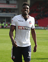 Bolton Wanderers' Sammy Ameobi at the end of todays match<br /> <br /> Photographer Rachel Holborn/CameraSport<br /> <br /> The EFL Sky Bet Championship - Barnsley v Bolton Wanderers - Saturday 14th April 2018 - Oakwell - Barnsley<br /> <br /> World Copyright &copy; 2018 CameraSport. All rights reserved. 43 Linden Ave. Countesthorpe. Leicester. England. LE8 5PG - Tel: +44 (0) 116 277 4147 - admin@camerasport.com - www.camerasport.com