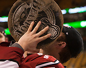 Clay Anderson (Harvard - 5) - The Harvard University Crimson defeated the Boston University Terriers 6-3 (EN) to win the 2017 Beanpot on Monday, February 13, 2017, at TD Garden in Boston, Massachusetts.