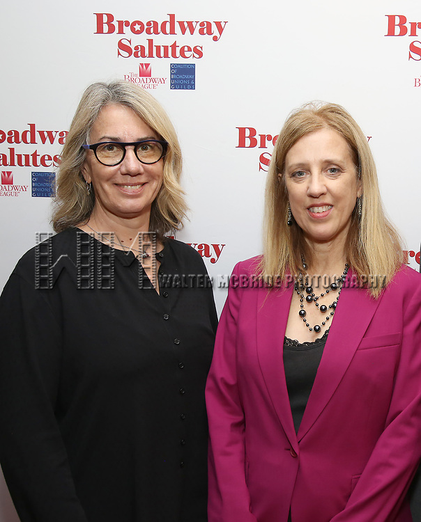 Laura Penn and Janet Allon attends Broadway Salutes 10 Years - 2009-2018 at Sardi's on November 13, 2018 in New York City.