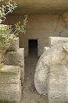 Israel, Shephelah, a burial cave in Hurvat Midras