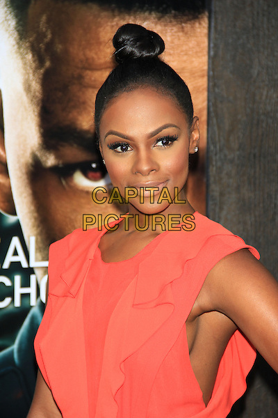 Tika Sumpter<br /> The New York Premiere of &quot;After Earth&quot; at the Ziegfeld Theatre, New York, NY., USA.<br /> May 29th, 2013<br /> headshot portrait side boob hair up bun red pink  <br /> CAP/LNC/TOM<br /> &copy;LNC/Capital Pictures