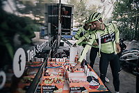 Edward THEUNS (BEL/Trek-Segafredo) grabbing the necessary nutrition for a long training ride<br /> <br /> Team Trek-Segafredo men's team<br /> training camp<br /> Mallorca, january 2019<br /> <br /> &copy;kramon
