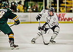 17 October 2015: University of Nebraska Omaha Maverick Forward Jake Guentzel, a Junior from Woodbury, MN, in first period action against the University of Vermont Catamounts at Gutterson Fieldhouse in Burlington, Vermont. The Mavericks defeated the Catamounts 3-1 in the second game of their weekend series. Mandatory Credit: Ed Wolfstein Photo *** RAW (NEF) Image File Available ***