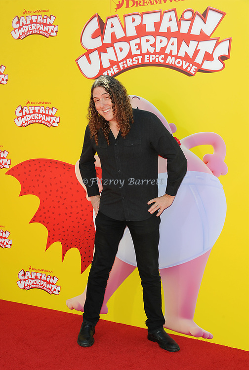 Weird Al Yancovic arriving at the Los Angeles premiere of Captain Underpants, held at the Regency Village Theater in Westwood California on May 21, 2017