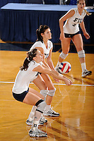 20 November 2008:  FIU middle blocker Isadora Rangel (14) returns a shot during the FIU 3-1 victory over South Alabama in the first round of the Sun Belt Conference Championship tournament at FIU Stadium in Miami, Florida.