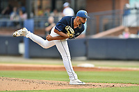 Asheville Tourists starting pitcher Alfredo Garcia (26) delivers a pitch during a game against the Augusta GreenJackets at McCormick Field on July 13, 2019 in Asheville, North Carolina. The GreenJackets defeated the Tourists 6-4. (Tony Farlow/Four Seam Images)