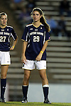 22 October 2015: Notre Dame's Taylor Klawunder. The University of North Carolina Tar Heels hosted the Notre Dame University Fighting Irish at Fetzer Field in Chapel Hill, NC in a 2015 NCAA Division I Women's Soccer game. UNC won the game 2-1.