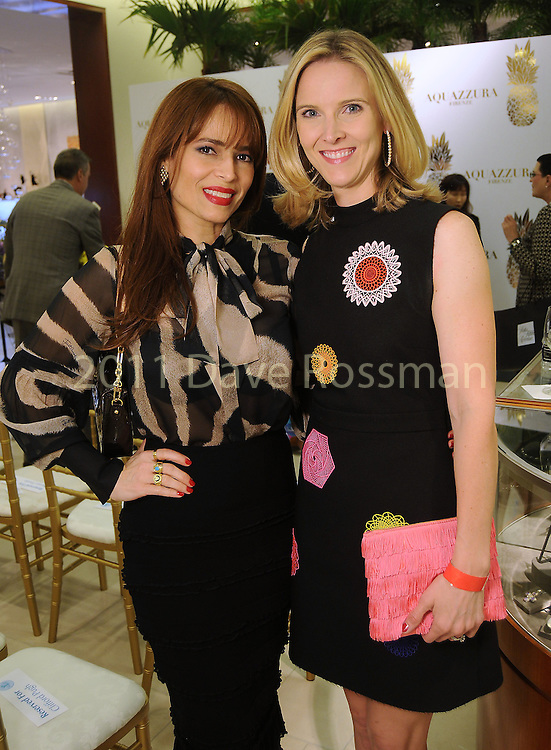 Karina Barbieri and Kristen McDaniel at a Dress for Dinner event featuring shoe designer Edgardo Osorio at Saks Fifth Avenue Wednesday Oct. 28, 2015.(Dave Rossman photo)