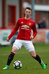 George Tanner of Manchester Utd during the U18 Premier League Merit Group A match at The J Davidson Stadium, Altrincham. Date 12th May 2017. Picture credit should read: Simon Bellis/Sportimage