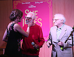 Laura Benanti, Joe Masteroff and Sheldon Harnick performs at the CD release signing for  the Broadway revival of 'She Loves Me' at Barnes and Noble 86th street on August 3, 2016 in New York City.