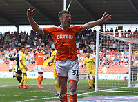 Blackpool's Chris Long urges the fans to make more noise<br /> <br /> Photographer Stephen White/CameraSport<br /> <br /> The EFL Sky Bet League One - Blackpool v Fleetwood Town - Monday 22nd April 2019 - Bloomfield Road - Blackpool<br /> <br /> World Copyright © 2019 CameraSport. All rights reserved. 43 Linden Ave. Countesthorpe. Leicester. England. LE8 5PG - Tel: +44 (0) 116 277 4147 - admin@camerasport.com - www.camerasport.com<br /> <br /> Photographer Stephen White/CameraSport<br /> <br /> The EFL Sky Bet Championship - Preston North End v Ipswich Town - Friday 19th April 2019 - Deepdale Stadium - Preston<br /> <br /> World Copyright © 2019 CameraSport. All rights reserved. 43 Linden Ave. Countesthorpe. Leicester. England. LE8 5PG - Tel: +44 (0) 116 277 4147 - admin@camerasport.com - www.camerasport.com