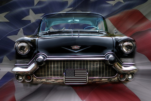 Hand painted in Photoshop, classic, Cadilac