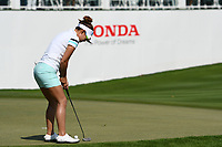 PATTAYA, THAILAND - FEBRUARY 22: Jenny Shin of South Korea 4th shot on the 18th during the second round of the Honda LPGA Thailand 2019 at Siam Country Club Pattaya (Old Course), Pattaya, Thailand on February 22, 2019.<br /> .<br /> .<br /> .<br /> (Photo by: Naratip Golf Srisupab/SEALs Sports Images)<br /> .<br /> Any image use must include a mandatory credit line adjacent to the content which should read: Naratip Golf Srisupab/SEALs Sports Images