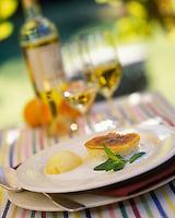 Europe/Italie/Ombrie/Orvieto : Crème renversée à l'orange, sorbet orange et crème de riz