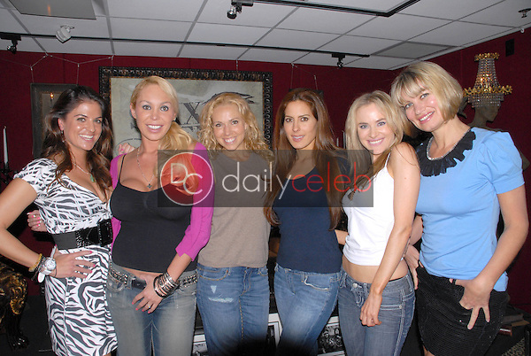Bridgetta Tomarchio, Mary Carey, Ashley Marriott, Kerri Kasem, Paula Labaredas and Rena Riffel<br />