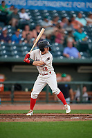 Great Lakes Loons Chris Roller (10) during a Midwest League game against the Clinton LumberKings on July 19, 2019 at Dow Diamond in Midland, Michigan.  Clinton defeated Great Lakes 3-2.  (Mike Janes/Four Seam Images)