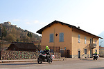 22/03/2020 in Pergine-Valsugana, Italy. Most part of Europe is today on a sweeping confinement to try to slow down the spread of the Covid-19 Pandemic. Local Police patrolling in the streets of the Italian City.