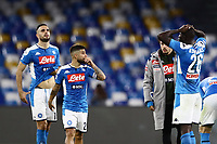 1st December 2019; Stadio San Paolo, Naples, Campania, Italy; Serie A Football, Napoli versus Bologna; Kalidou Koulibaly and Lorenzo Insigne of Napoli frustrated as they lose 1-2 at home to Bologna - Editorial Use