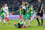 10.02.2019, Weser Stadion, Bremen, GER, 1.FBL, Werder Bremen vs FC Augsburg, <br /> <br /> DFL REGULATIONS PROHIBIT ANY USE OF PHOTOGRAPHS AS IMAGE SEQUENCES AND/OR QUASI-VIDEO.<br /> <br />  im Bild<br /> Kevin Möhwald / Moehwald (Werder Bremen #06) Verletzung / verletzt / Schmerzen<br /> Maximilian Eggestein (Werder Bremen #35)<br /> <br /> <br /> Foto © nordphoto / Kokenge