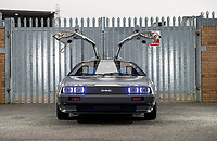 BNPS.co.uk (01202 558833)<br /> Pic: PhilYeomans/BNPS<br /> <br /> Back to the Future...finally!<br /> <br /> A British car nut has spent over £200,000 converting his DeLorean into a stunning electric eco supercar for the 21st century.<br /> <br /> The transformation of the lame duck motor from the 1980's using Tesla battery technology brings the ill fated model right back to the future.<br /> <br /> Former music producer Phil Wainman commissioned engineer Clint Townsend to attempt to convert the Delorean using Tesla batteries as an eco experiment.<br /> <br /> And the spectacular stainless steel supercar even boasts a Flux Capacitor style gear selector and a sampled annoucement of  'Great Scot' as the powerful motor goes past 88mph.