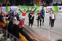 SCHAATSEN: ERFURT: Gunda Niemann Stirnemann Eishalle, 22-03-2015, ISU World Cup Final 2014/2015, winners World Cup, ©foto Martin de Jong