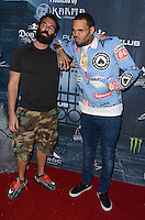 LOS ANGELES, CA - OCTOBER 22: Dan Bilzerian and Chris Brown at the Maxim Halloween at The Shrine Expo Hall on October 22, 2016 in Los Angeles, California. Credit: David Edwards/MediaPunch