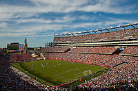 A general view of the stadium during the first half. The men's national team of Spain (ESP) defeated the United States (USA) 4-0 during a International friendly at Gillette Stadium in Foxborough, MA, on June 04, 2011.