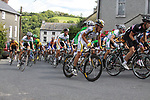 The peloton including defending champion Marco Pinotti (ITA) Columbia High Road winds its way through Inistioge village during Stage1 of the 2009 Tour of Ireland, running 196km from the Ritz-Carlton Hotel Powerscourt, Enniskerry to Waterford, Ireland. 21st August 2009.<br /> (Photo by Eoin Clarke/NEWSFILE)