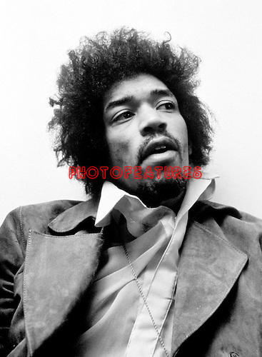 Jimi Hendrix 1969 at the BBC Bar for The Lulu Show....© Chris Walter..