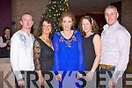 CHRISTMAS TIME: Some of the staff from Tralee Community College and Bolger Fabrication enjoying the Christmas party at the Carlton hotel, Tralee on Saturday l-r: Johnny Browne, Helen Kelliher, Caroline Collins, Myrna and Jamie Bolger..
