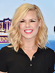 WESTWOOD, CA - JUNE 30: Kimberly Caldwell-Harvey attends the Columbia Pictures and Sony Pictures Animation's world premiere of 'Hotel Transylvania 3: Summer Vacation' at Regency Village Theatre on June 30, 2018 in Westwood, California.