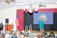 Democratic presidential candidate and Minnesota senator Amy Klobuchar speaks at a town hall campaign event at the Londonderry Senior Center in Londonderry, New Hampshire, on Wed., October 16, 2019. The event was part of a 10-county tour of New Hampshire and started the day after the 4th Democratic debate, in which analysts said Klobuchar performed well.