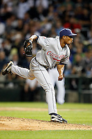 August 7, 2009:  Pitcher Tony Sipp (49) of the Cleveland Indians delivers a pitch during a game vs. the Chicago White Sox at U.S. Cellular Field in Chicago, IL.  The Indians defeated the White Sox 6-2.  Photo By Mike Janes/Four Seam Images